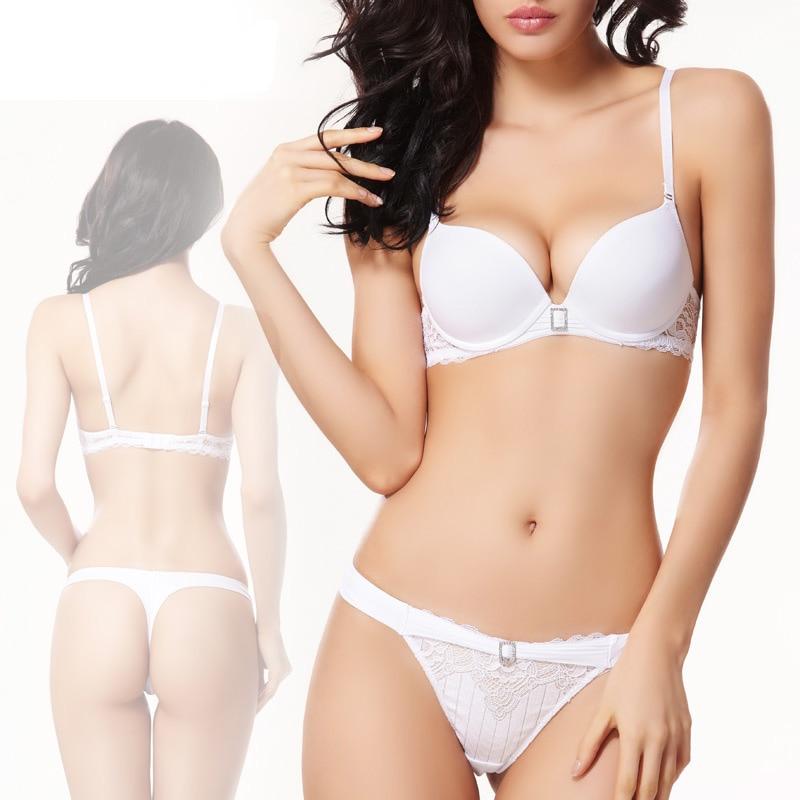 8448602b2cf6 Push Up Sexy Bra Set Women Pure White Wedding Underwear Diamond Lingerie  Balaloum Brand Lace Bras High-end Quality Intimates VS