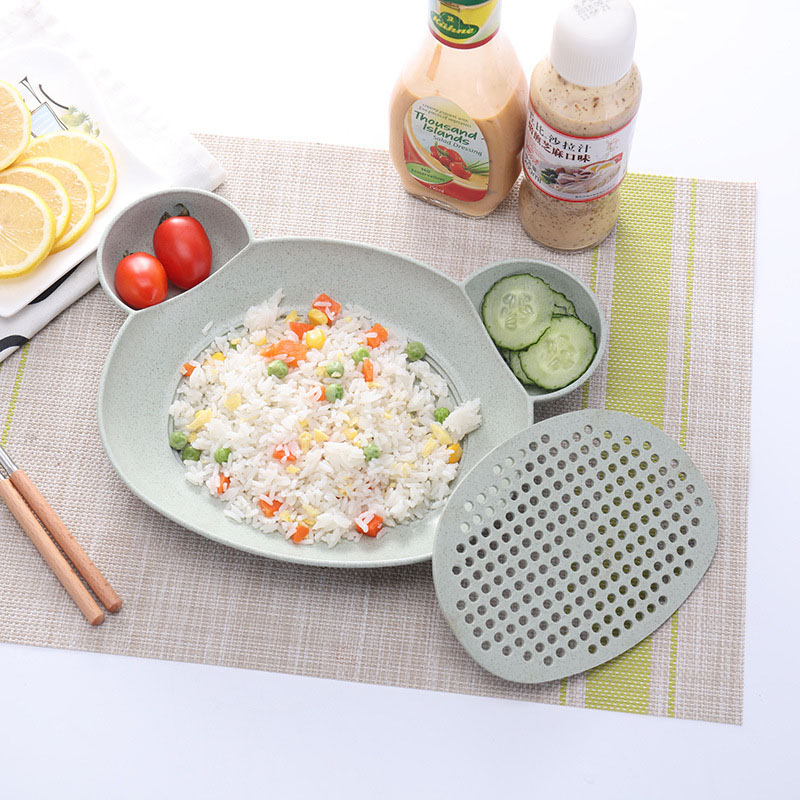 Baby Food Supplement Bowl BPA Free Infant Feeding Sub-grid Tray Set Dishes Toddler Anti-slip Plate Child Eating Tableware MY0023 (11)