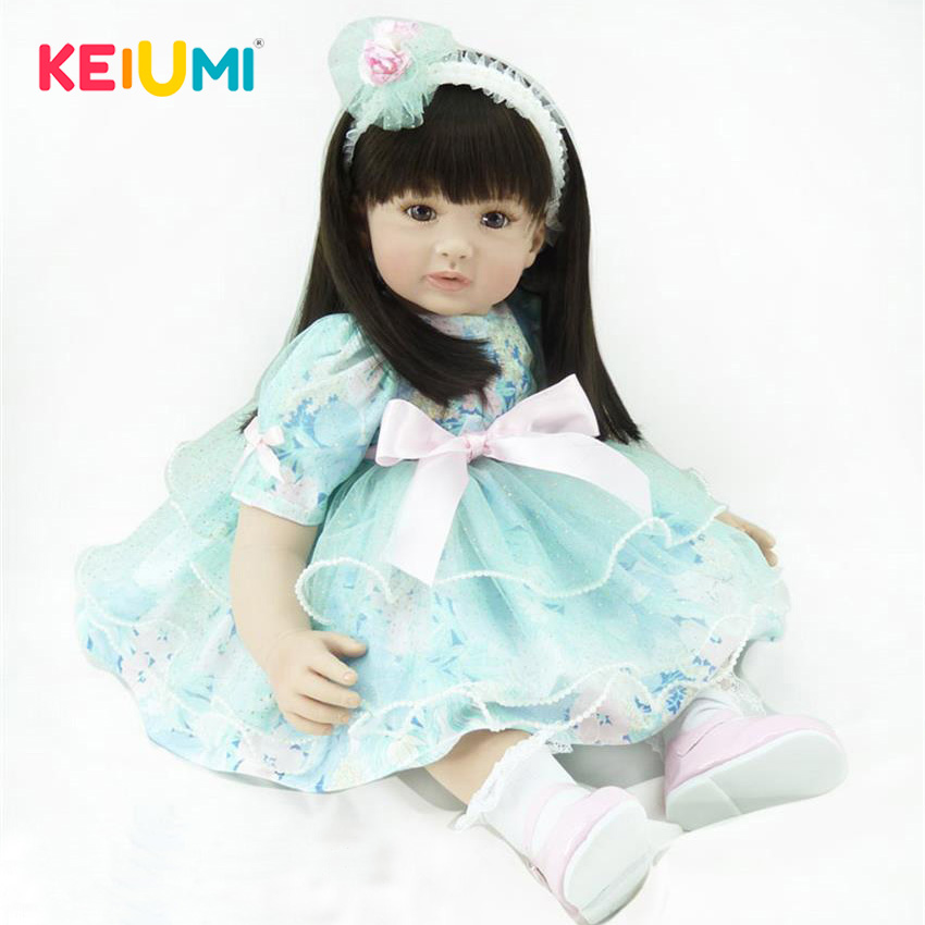 Real Looking 22  56 cm Reborn Toy Soft Touch Silicone Vinyl Newborn Doll For Girl Alive Reborn Baby Doll Cloth Body Kids Gifts мишура карусель радужный 200см