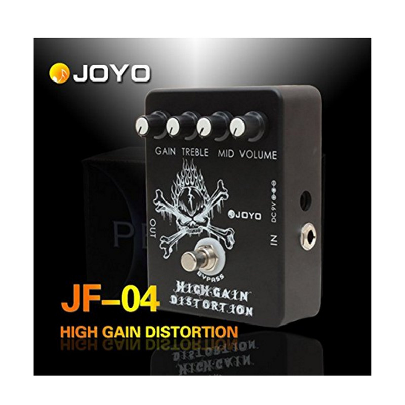 Joyo JF-04 High Gain Distortion effect Guitar Pedal True Bypass Spare Part Musical Instrument Accessory Kit mooer ensemble queen bass chorus effect pedal mini guitar effects true bypass with free connector and footswitch topper