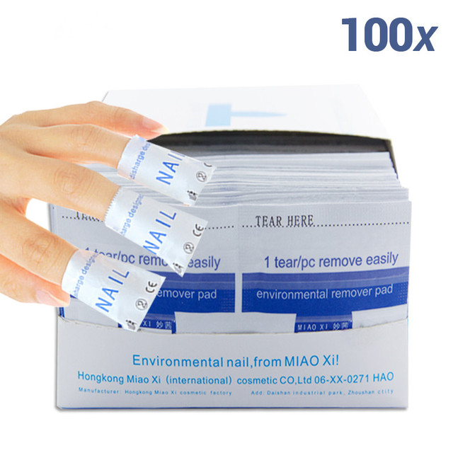 100Pcs/Lot Gel Polish Remover Wraps Pads Manicure Tools Wet Wipes Paper Pads Foil Nail Art Cleaner for UV Gel