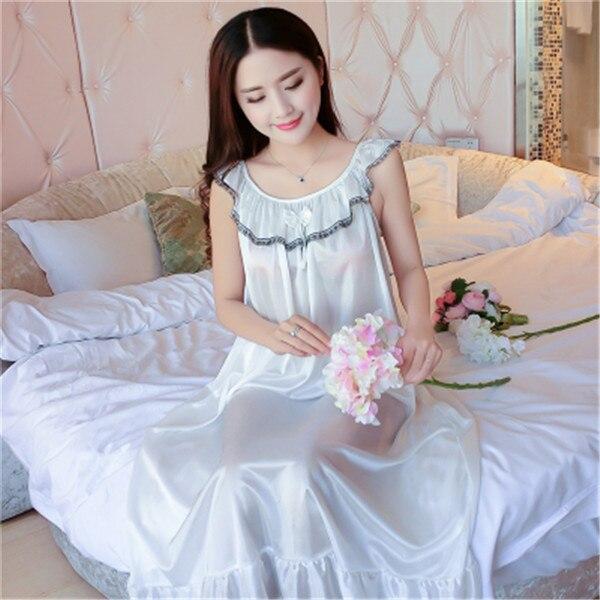 Hot Women Night Gowns Sleepwear Nightwear Long Sleeping Dress Luxury Nightgown Women Casual Night Dress Ladies Home Dressing Z79 18