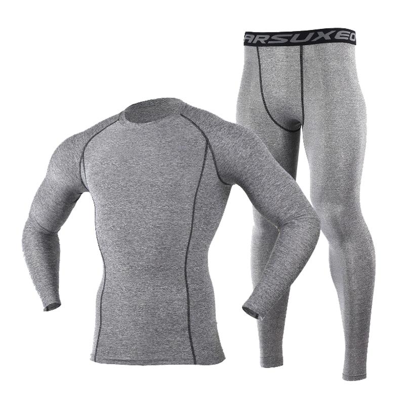 Winter Men Ski Jacket And Pants Thermal Skiing Underwear Set Men Long Johns Men For Ski/Riding/Climbing/Cycling