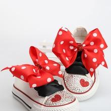 Dollbling Kinder Leinwand Schuhe Spitze Bogen Benutzerdefinierte Hand Kappe Mit Diamanten Low Leinwand Beiläufige Flache Schuh Kinder Sport Schuhe