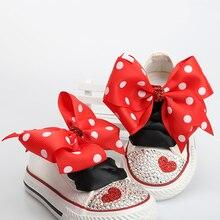 Dollbling/Детская парусиновая обувь; Парусиновая обувь на плоской подошве в повседневном стиле с кружевным бантом на заказ; Детская спортивная обувь