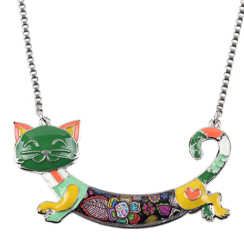 CUTE ALLOY ENAMEL CAT NECKLACE-Cat Jewelry-Free Shipping CUTE ALLOY ENAMEL CAT NECKLACE-Cat Jewelry-Free Shipping HTB1v2ONXN1YBuNjy1zcq6zNcXXaX