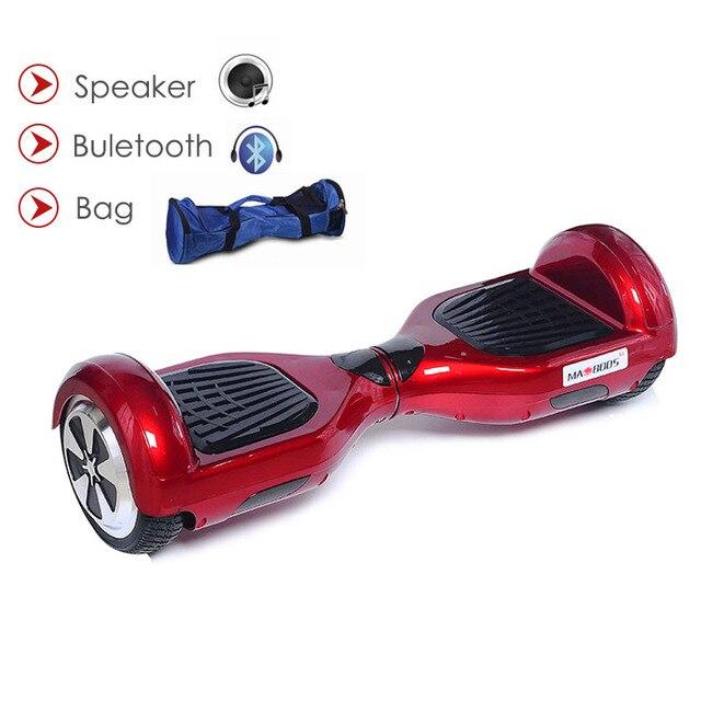 Ховерборд баланса собственной личности Электрические скутеры два колеса Электрический ХОВЕРБОРДА с Bluetooth Динамик 6.5 дюймов скейтборд gyroscoot