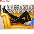 Wonderheel 58cm shaft length PU material 12cm High Heel overknee boots black matt thigh high boots sex fetish unisex long boots