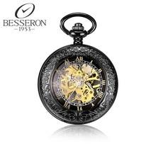 Steampunk Reloj de Bolsillo Mecánico Reloj de La Vendimia Reloj Colgante Negro Colgante Cadena de Reloj Reloj orologio da tasca Antiguo