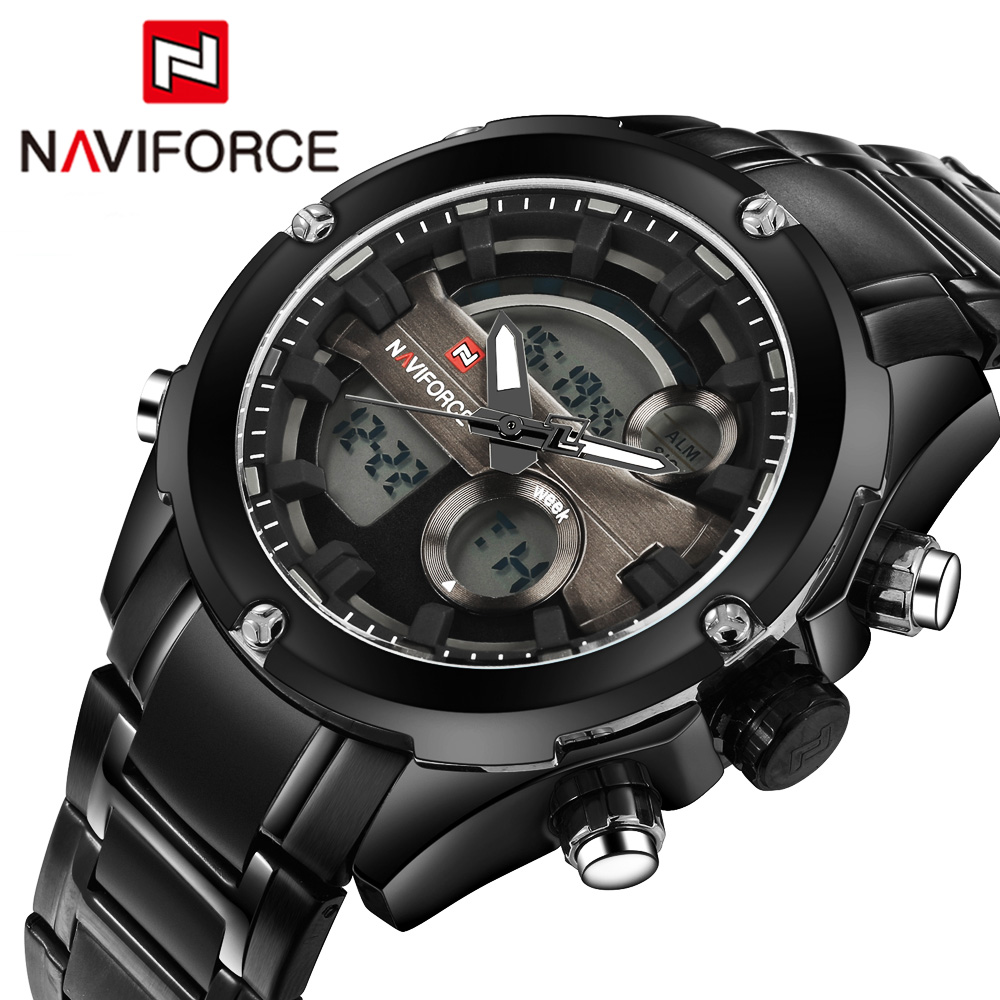 Top Brand NAVIFORCE Men Army Military LED Sports Watches Men's Quartz Analog Clock Male Waterproof Wrist watch Relogio Masculino benyar luxury top brand men watches sports military army quartz wrist watch male chronograph clock relogio masculino gift box