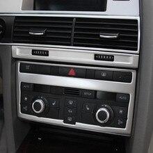 Centro Console Condizionatore D'aria Regolazione Cornice Decorazione Della Copertura Trim 2 Pcs Per Audi A6 C5 C6 2005-2011 In acciaio inox