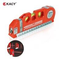 Multipurpose Laser Level Horizon Vertical Measure Tape Aligner 8FT 32006
