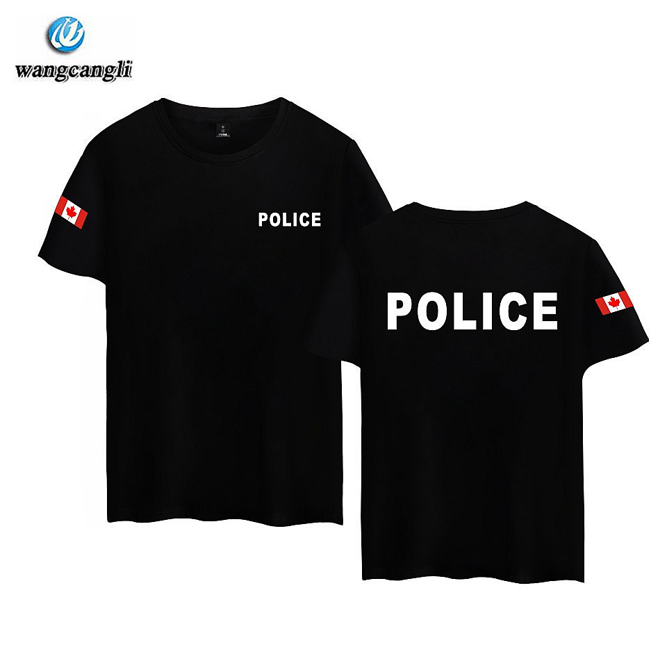 63213d2cec ≧Police Clothing Mens Summer T Shirts Print Police T-shirt Men Top ...