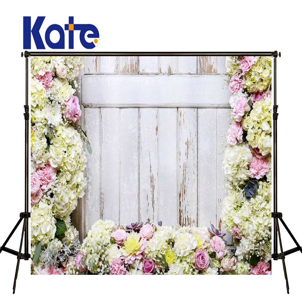 Kate Flower Wall Backdrop Spring Photography Backdrops Romantic Wedding Photography Backdrops Large Size Seamless Photo 857 seamless nail wedding photo frame wall paintings hook the real invisible
