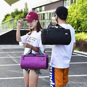 Image 2 - Дорожная Спортивная Сумка для мужчин, однотонный чемодан через плечо унисекс, портативные нейлоновые сумки, большая многофункциональная сумка на плечо для мужчин XA268WC