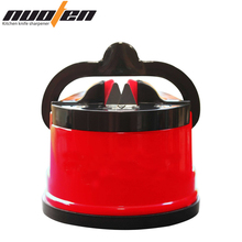 NUOTEN Brand Suction Knife Sharpener Sharpening Tool Easy and Safe to Sharpens Kitchen Chef Knives Damascus Knives Sharpener cheap Sharpeners CE EU LFGB Stocked Eco-Friendly ND-022 Carbon Steel 61*65mm China Pull through Tungsten Steel BPA free ABS Plastic
