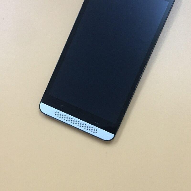 Pour HTC Desire 700 Plein Écran Tactile Digitizer Capteur En Verre + LCD Affichage Panneau Moniteur Module Assemblée Avec Cadre Lunette logement