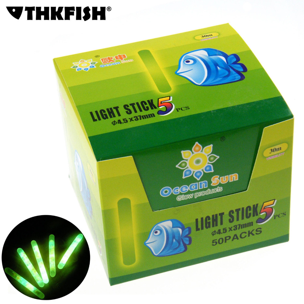 50 Packs/box 4.5X37MM-7.5X75MM Fishing Float Glow Stick Luminous Night Sticks Wand Chemical Fluorescent Lighting Stick Pesca candino sport c4506 3