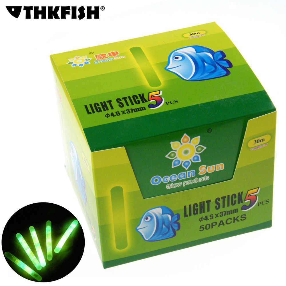 50 paquetes/caja 4.5X37MM-7.5X75MM barra flotante brillante de Pesca barras luminosas de noche varita química fluorescente barra de iluminación Pesca