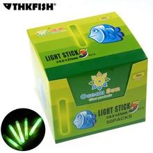 50 paquets/boîte 4.5X37MM 7.5X75MM pêche bâton lumineux bâtons de nuit baguette chimique Fluorescent bâton déclairage Pesca