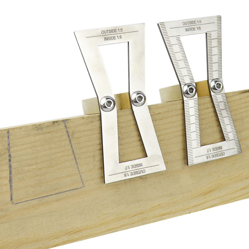 Marcador de cola de milano 1: 5//1: 6//1: 7//1: 8 mm medidor de trazado de cola de milano para carpinter/ía y carpinteros herramienta de gu/ía de plantilla de cola de milano cortada