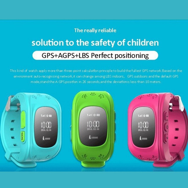 2017 Kids watches witth Anti-Lost gps Watches for boys & girls SOS Call Location Finder  for Kids & child smart Bracelet
