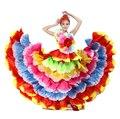 Spanish Dance Dress Flamenco Dress Flamengo Dance Custome  Flower Petal Skirt 360 540