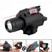 2in1 Combo Tactical Hunting 200 Lumen LED Flashlight Light Red Dot Laser Sight For Pistol Airsoft
