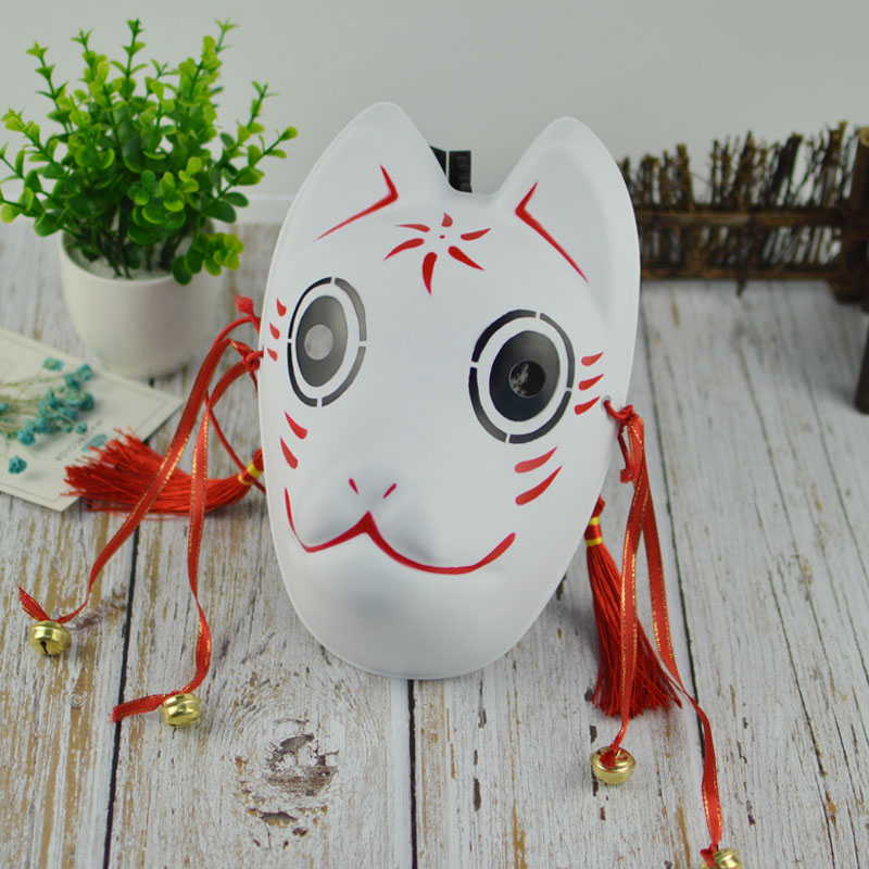 US $6 8 |Halloween DIY MASK Japanese Private custom wind fox mask painted  cat Natsume's Book of Friends pulp fox full face mask cosplay-in Party  Masks