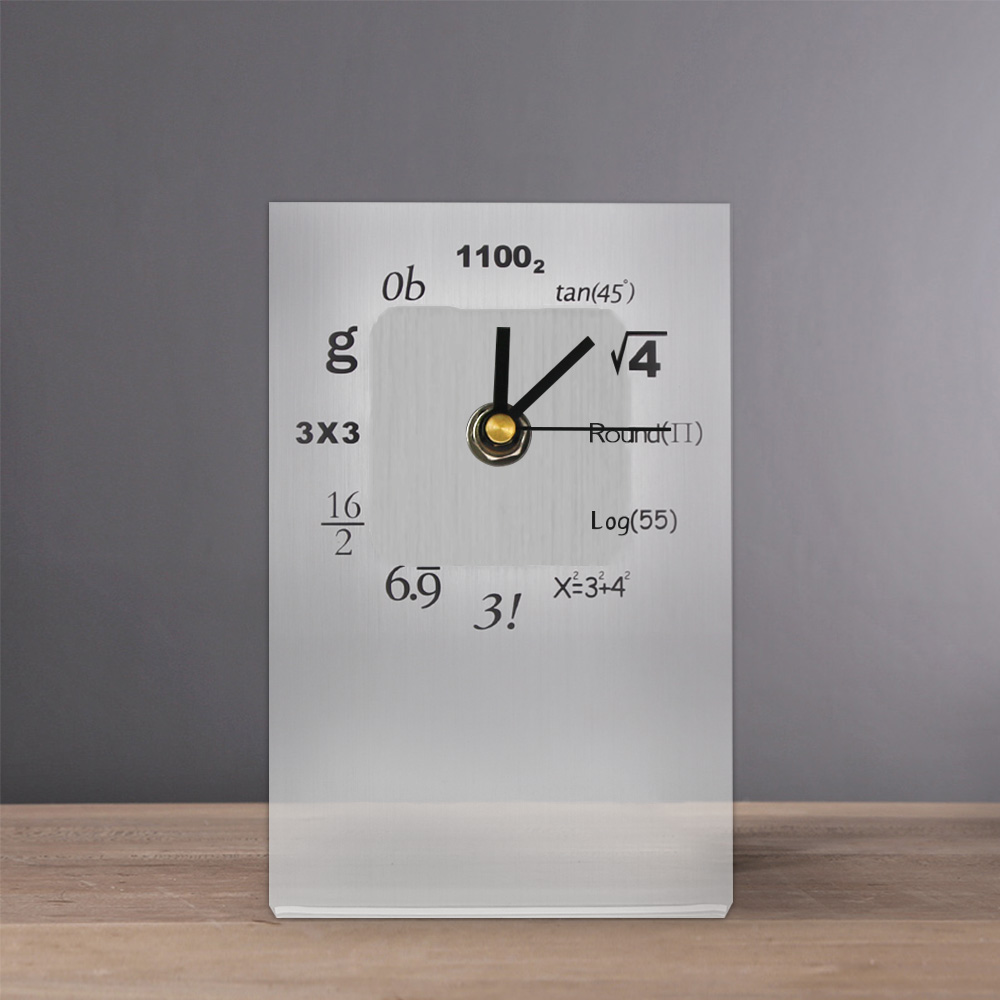 Quiz Time Pop Quiz Math Desk Clock Science Mathematical Equation Math Formulas Table Clock Teachers Gift For Mathematics Geek