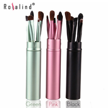 Rosalind Professional Makeup Tools Travel Makeup Brushes  5 Pcs with Cylindrical Box  Make Up Tools Beauty Brand MAANGE