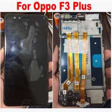 Original Quality Black/White 6.0 inch For Oppo F3 Plus LCD Display + Touch Screen Digitizer Assembly with frame Replacement Part