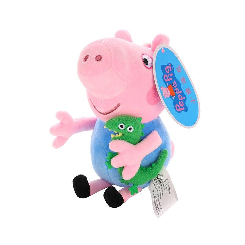 Original 19cm Peppa Pig George Animal Stuffed Plush Toys Cartoon Family Friend Pig Party Dolls For Girl Children Christmas Gift 2