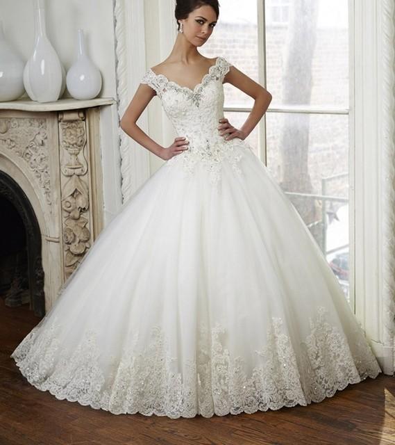 Graceful Vintage Wedding Dress Ball Gown 2015 Hot Sale Sweetangel ...