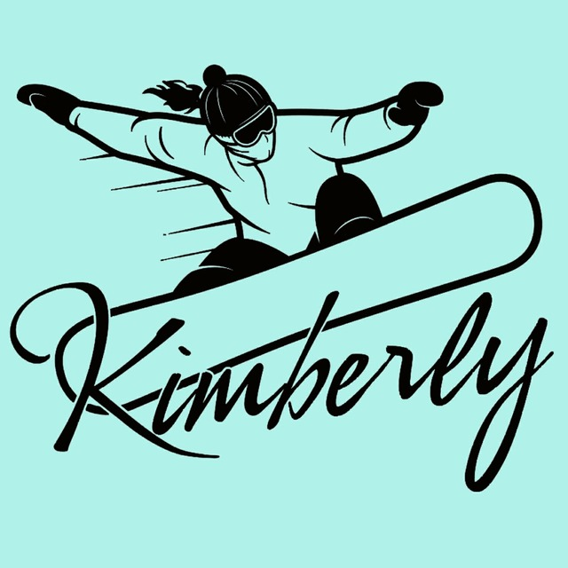 Snowboard snowboarding wall decal custom girl name wall personalized vinyl sticker home decoration 5 sizes 40