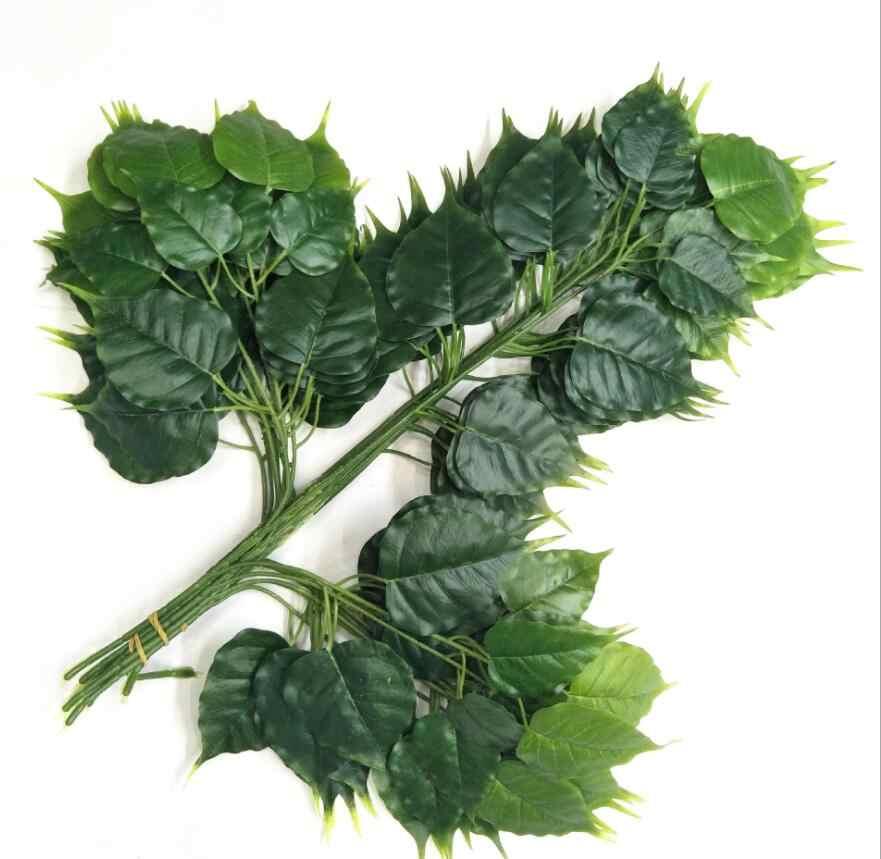 Фото 12 шт. искусственная липа ветка с листьями для растительных стен задний план