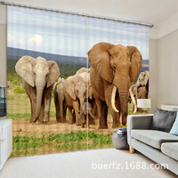 New Animal Blackout curtains fabric 3d curtains for bedroom ready made blinds Christmas window curtains kids room curtains livin