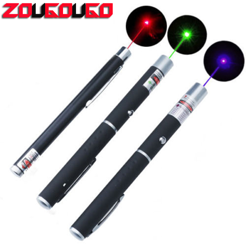 1Pcs 5MW 650nm Red /Blue /Green Violet Laser Pen Powerful Laser Pointer Presenter Remote Lazer Hunting Laser Bore Sighter 1pcs laser pointer green blue red lazer beam light 5mw military high poewred burning presenter laser wholesale price