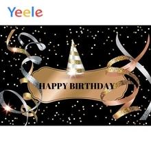 Yeele Birthday Background Splendid Poster Ribbon Celebrating Party Baby Photography Scene Photographic Backdrop For Photo Studio