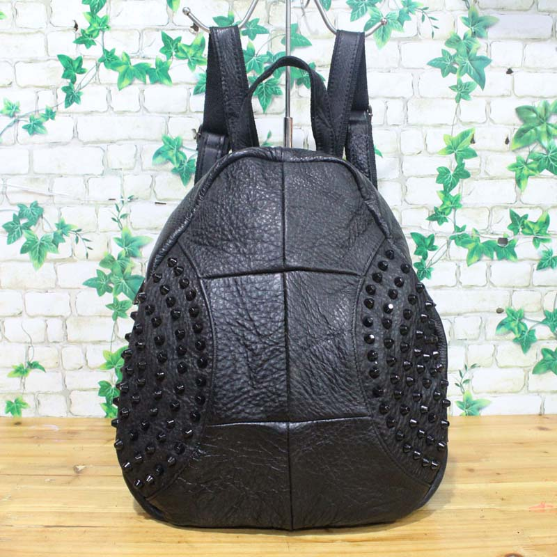AETOO Guangzhou foreign trade first layer leather ladies leather backpack handbags college wind black backpac детская клеёнка foreign trade 90 150