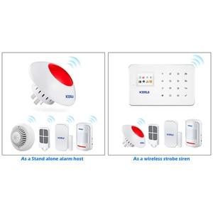 Image 5 - KERUI 433MHz 110dB ボリューム調整可能なワイヤレス警報サイレンフラッシュホーン赤色光警報キットのスーツ警報システム
