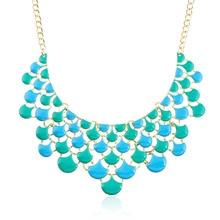 Europe Newest Fashion Statement Necklace Hyperbole Big Gold Vintage Openwork Jewelry Women Choker