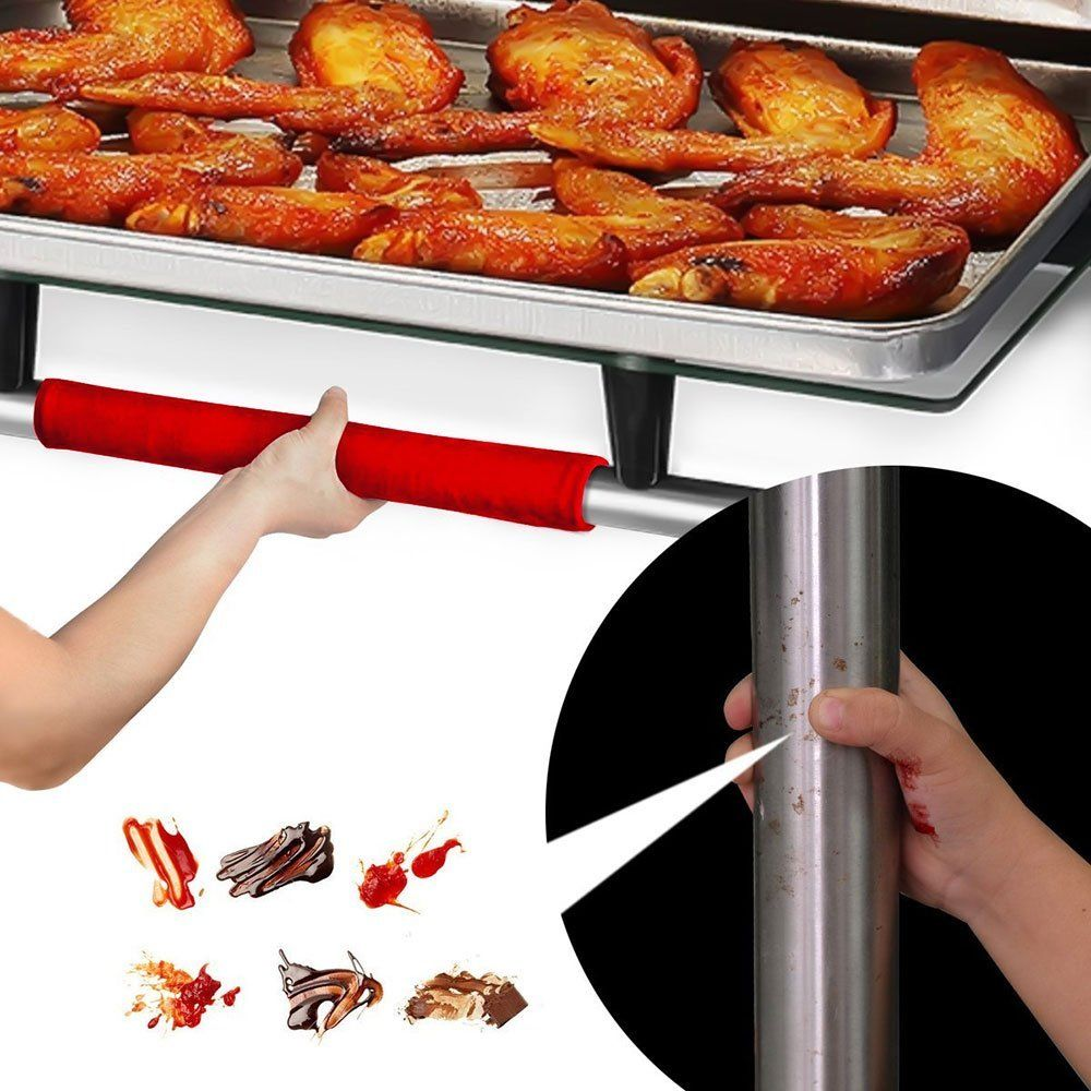 new 2 PCS Kitchen Appliance Handle Cover Decor Smudges Door Refrigerator Fridge Oven Kitchen Appliance Clean Decor