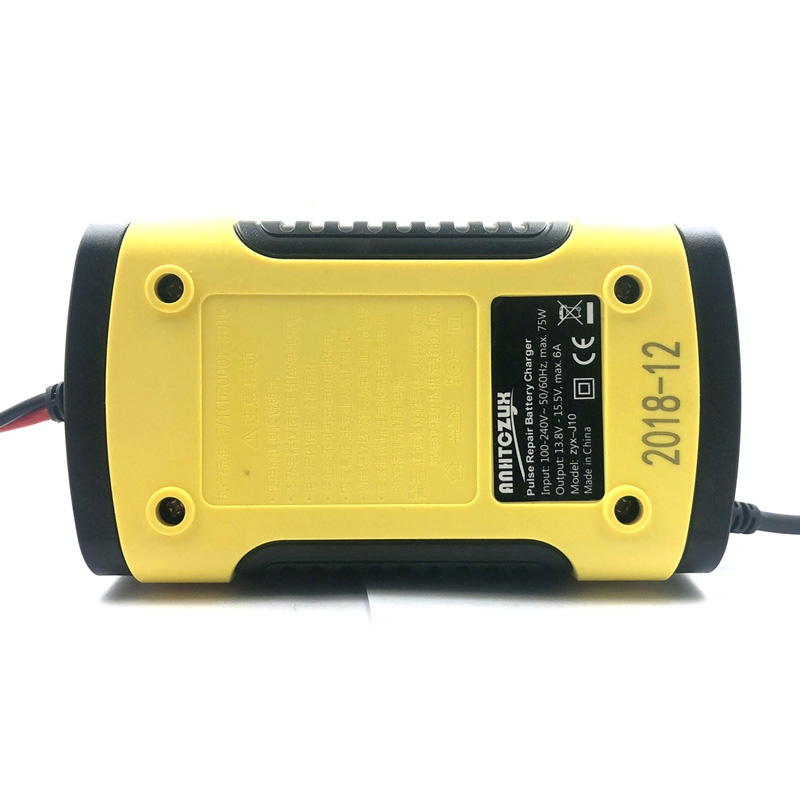12V 5A EU Plug Pulse Repair Charger With LCD Display Motorcycle Car Battery Charger 12V AGM GEL WET Lead Acid Battery Charger