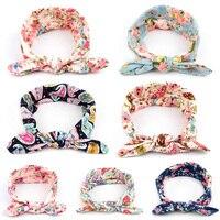 1PC Fashion Baby Girl Rabbit Ears Knot Headband Newborn Infant Hair Accessories Children Elastic Print Hair
