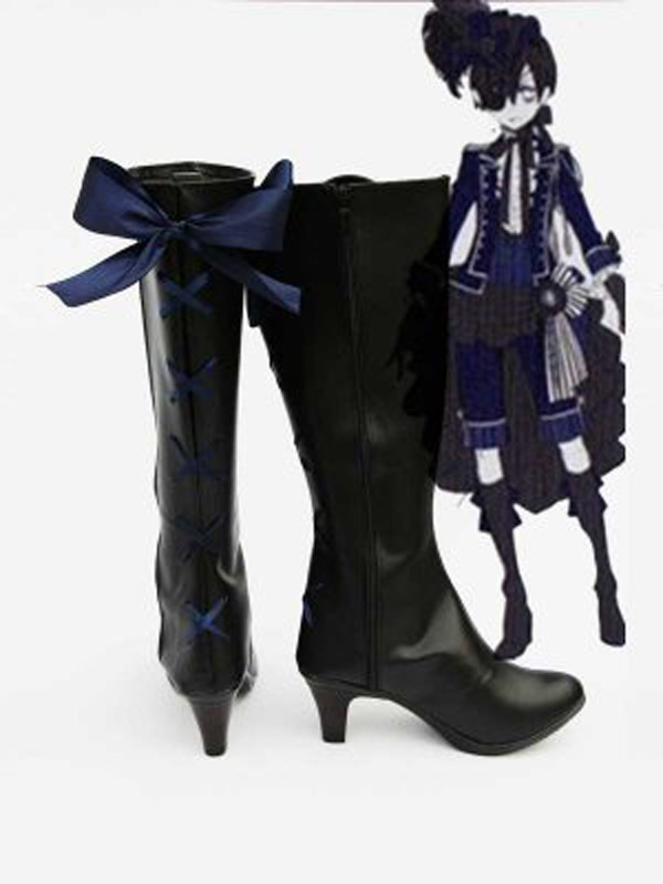 Черный Батлер ciel ботинки для костюмированной вечеринки Обувь Аниме партии Косплэй show Сапоги и ботинки для девочек индивидуальный заказ для...