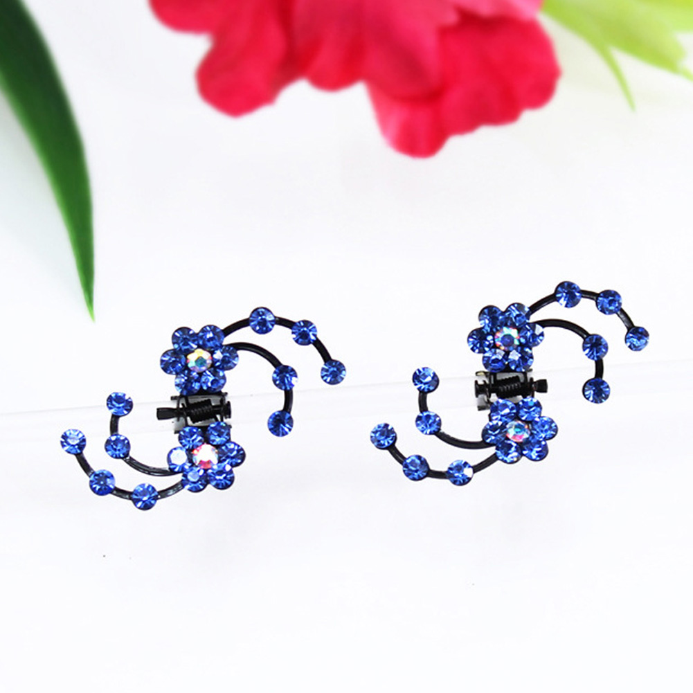 Individual Special Plum Flower Women Hairpin Hair Claws Rhinestone High Quality 6 Pcs/Set