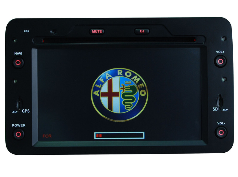 1din head unit car dvd player gps navigation for alfa. Black Bedroom Furniture Sets. Home Design Ideas