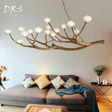 Nordic пост-современный светодиодный Magic Bean люстры Luminaria Освещение в гостиную Творческий дендримеров Lamparas блеск лампы
