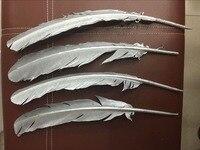 New 50 CÁI/rất nhiều! 25-30 cm 10-12 inch dài, thổ nhĩ kỳ feather phun bạc, ăn mặc trang điểm